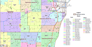 Manitowoc County Supervisory Districts & Wards